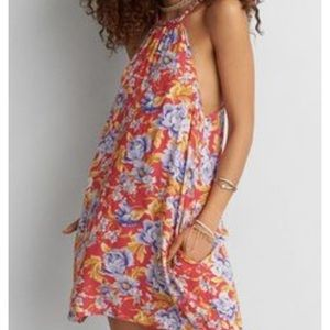 American Eagle Red Floral Dress
